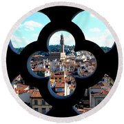 Florence Through A Unique Lens Round Beach Towel