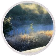 Florida Frosty Morning Round Beach Towel