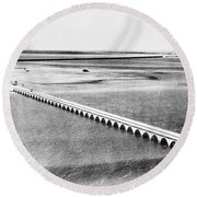 Florida: Overseas Bridge Round Beach Towel