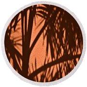 Florida Palm Shadow Round Beach Towel