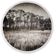 Florida Pine 2 Round Beach Towel