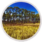 Florida Pine 3 Round Beach Towel