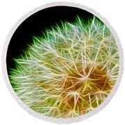 Flower - Forbidden Planet - Abstract Round Beach Towel