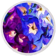 Flower Arrangement 012812 Round Beach Towel by David Lane
