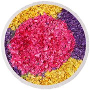 Flower Carpet Round Beach Towel