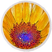 Flower Child - Flower Power Round Beach Towel