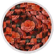 Flower Garden Delightful Round Beach Towel