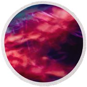 Flowers In The Wind Round Beach Towel