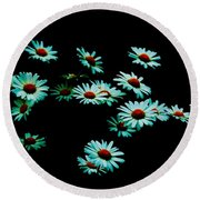 Flowers Only Round Beach Towel