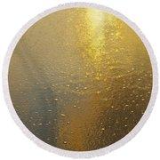 Flowing Gold 7646 Round Beach Towel