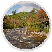 Flowing Into Autumn Round Beach Towel