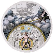 Fludd: Title-page, 1617 Round Beach Towel