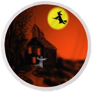 Fly By Night Round Beach Towel by Kevin Caudill