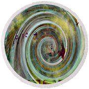 Flying Circles  Round Beach Towel