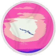 Flying To Heaven Round Beach Towel