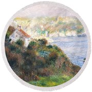 Fog On Guernsey Round Beach Towel