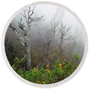 Foggy Day On The Blueridge Round Beach Towel