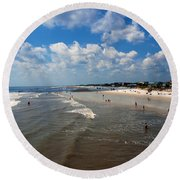 Folly Beach Charleston South Carolina Round Beach Towel