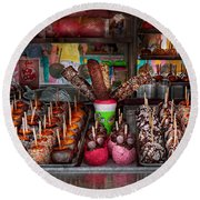 Food - Candy - Chocolate Covered Everything Round Beach Towel