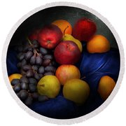 Food - Fruit - Fruit Still Life  Round Beach Towel