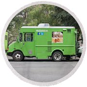 Food Trucks Round Beach Towel