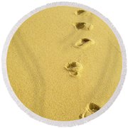 Foot Prints Round Beach Towel