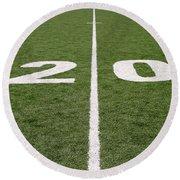 Football Field Twenty Round Beach Towel
