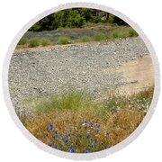 For Purple Mountain Majesties Round Beach Towel