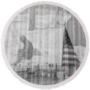 For Those Who Served Round Beach Towel
