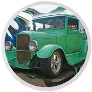 Ford Abstract Round Beach Towel
