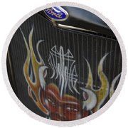 Ford And The Devil Round Beach Towel