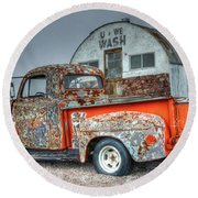 Ford At The U We Wash Round Beach Towel