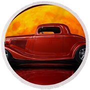 Ford Coupe Round Beach Towel