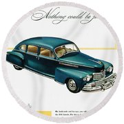 Ford Lincoln Ad, 1946 Round Beach Towel