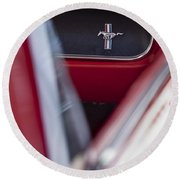 Ford Mustang Dash Emblem Round Beach Towel