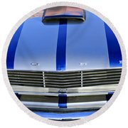 Ford Mustang Grille Round Beach Towel