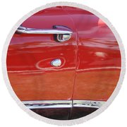 Ford Ranchero Door And Side Panel Round Beach Towel