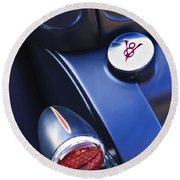 Ford V8 Taillight And Gas Cap Round Beach Towel