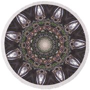 Forest Mandala 1 Round Beach Towel