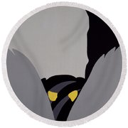 Forest Of The Night Round Beach Towel