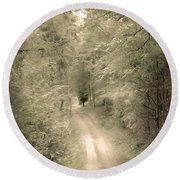 Forest Path Round Beach Towel by Svetlana Sewell