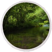 Forest River Round Beach Towel