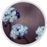 Forget Me Not 01 - S05dt01 Round Beach Towel
