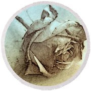 Forgotten Rose Round Beach Towel