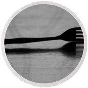 Fork Round Beach Towel