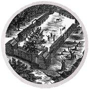 Fort Boonesborough, 1775 Round Beach Towel