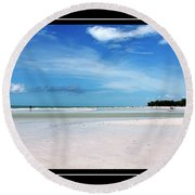 Fort Desoto Beach Round Beach Towel