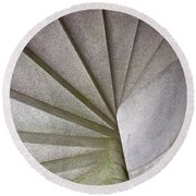 Fort Knox Granite Spiral Staircase Round Beach Towel