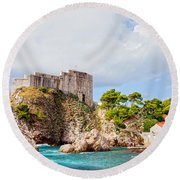 Fort Lovrijenac In Dubrovnik Round Beach Towel