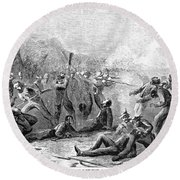 Fort Pillow Massacre, 1864 Round Beach Towel